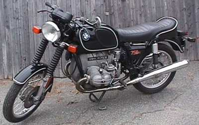 1975 BMW R75/6 motorcycle